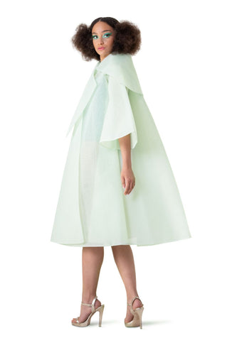 GREEN PRINCESS TULLE CAPE - pu·rist