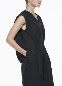 V-NECK DRESS WITH FRONT PLEATS Dresses from akinn curated by pu·rist