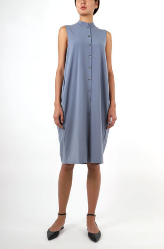 COCOON SHIRT DRESS | MISTY BLUE Dresses from akinn curated by pu·rist