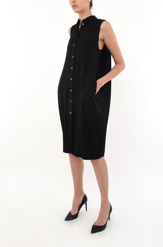 COCOON SHIRT DRESS | BLACK Dresses from akinn curated by pu·rist
