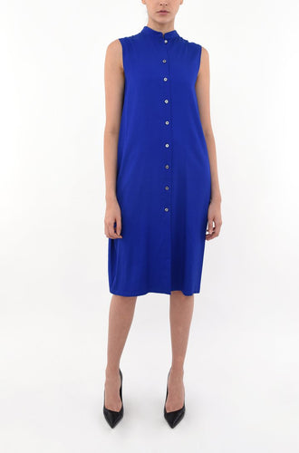 COCOON SHIRT DRESS | COBALT BLUE Dresses from akinn curated by pu·rist