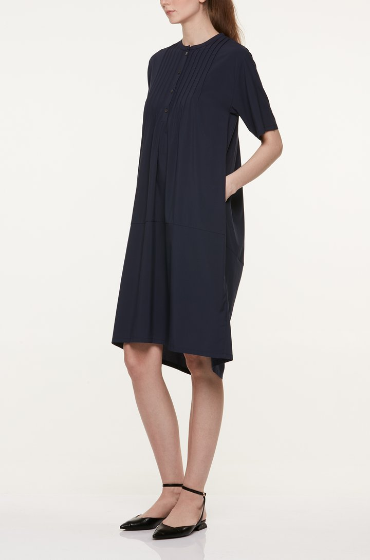 SHORT SLEEVE PINTUCK DRESS Dresses from akinn curated by pu·rist