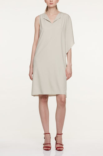 ASYMMETRIC DRAPED SIDE DRESS Dresses from akinn curated by pu·rist