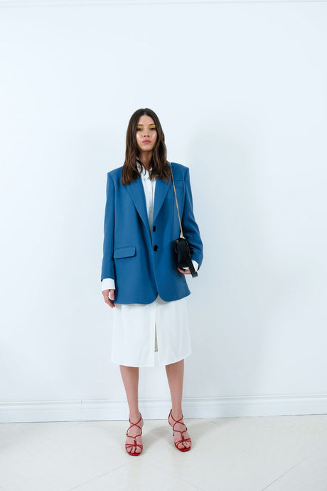 Blue Jacket blazers from IRÁRO curated by pu·rist