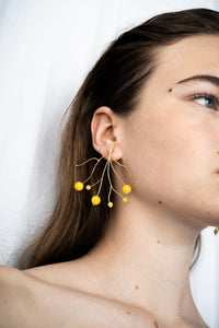 Mimosa earrings | Yellow earrings from Little Wonder curated by pu·rist