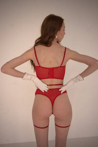 Arc High Rise Thong (red)