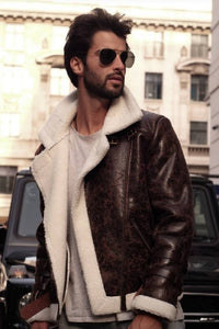 Brown Unisex Aviator Jacket-Outerwear-Blackburd-pu·rist