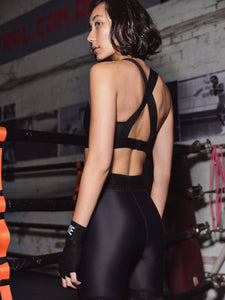 X-BACK SPORTS BRA - BLACK TOP from EXIE curated by pu·rist