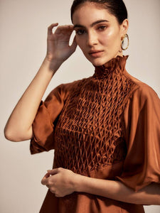 The Couru Blouse - Rust-Blouse-L'ETE FEMME-pu·rist