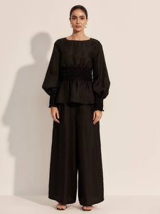 The Allegro Trousers - Moonless-Toursers-L'ETE FEMME-pu·rist