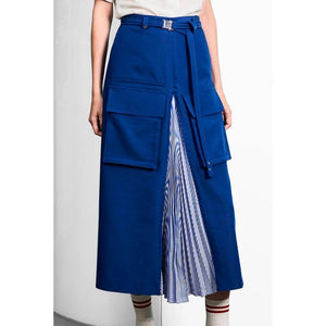 Pleating Utility Skirt-Skirt-Charlotte Ng Studio-Utility Pleating Skirt-S-pu·rist