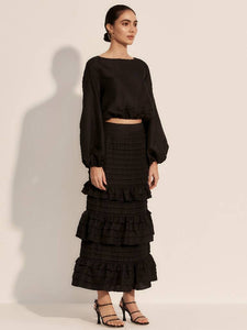 The Glissade Skirt - Moonless-Skirt-L'ETE FEMME-pu·rist