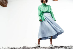Jada Midi Skirt (Powder Blue) Pre-order-Skirt-MOIRAI-pu·rist