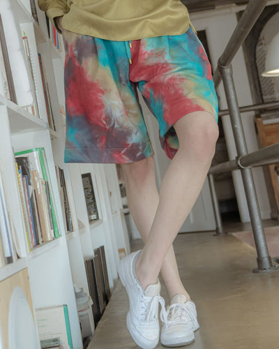 LUCID DREAM MULTI COLOR RUCH SHORT-SHORT-WOODROSE-pu·rist