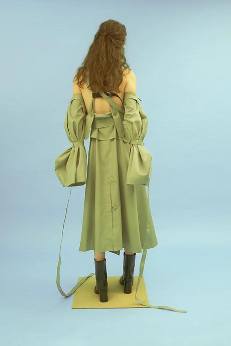 Sage Trench Dress-Natta-pu·rist