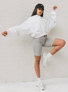 BOX LOGO HOODIE - WHITE TOP from EXIE curated by pu·rist