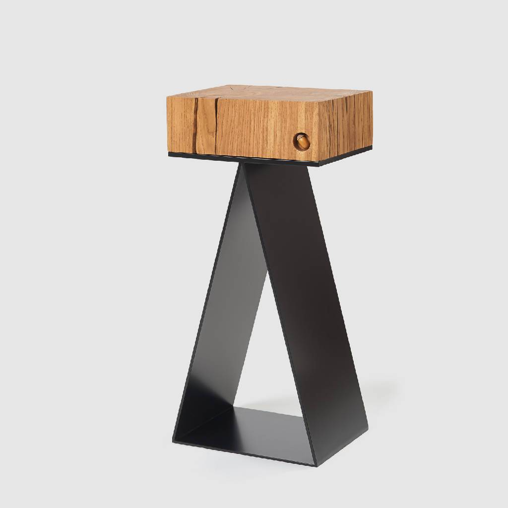 ORIGAMI I CONSOLE/SIDE TABLE-CONSOLE/SIDE TABLE-Oak Acorn-pu·rist