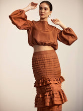 Load image into Gallery viewer, The Battu Crop Top - Rust-Blouse-L'ETE FEMME-pu·rist