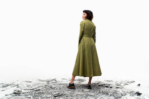 Liun Trench Coat (Meadow Olive) Pre-order-Outer-MOIRAI-pu·rist