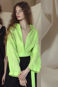 Alisson Shirt Neon Green Linen