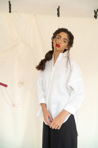 Alisson Shirt White Linen