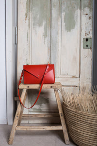 Lena Crossbody Red | MADE TO ORDER bags from Scilla curated by pu·rist