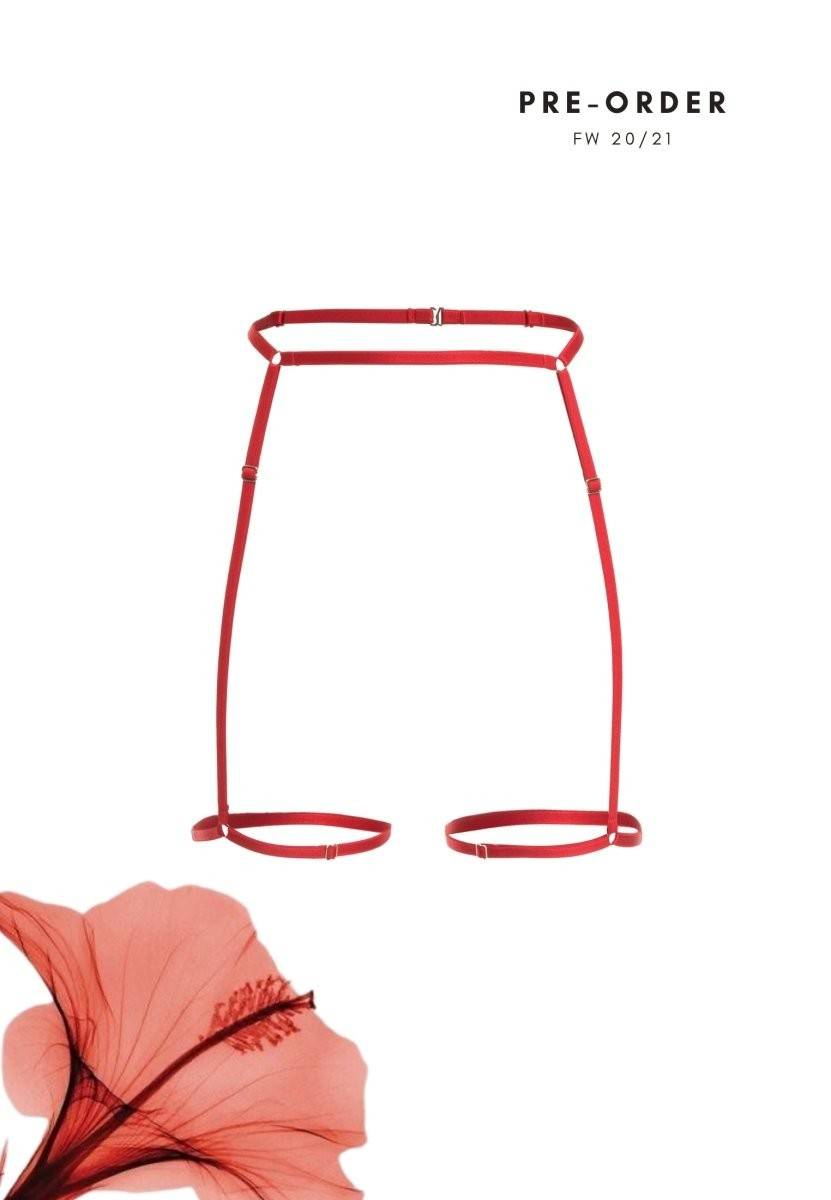 Arc Suspender Strap (red) | PRE ORDER Suspender from Aurore Lingerie curated by pu·rist