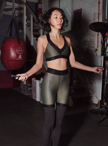 OXYGEN LEGGINGS - KHAKI BOTTOMS from EXIE curated by pu·rist