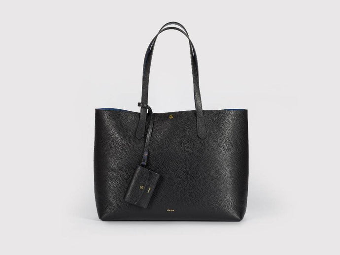 Julia Tote Bag, Jet Black Handbags from Verlein curated by pu·rist