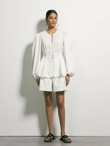 Lay Low Blouse - Ivory | PRE ORDER
