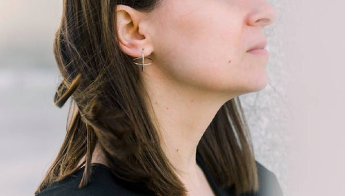 Minimal Geometric Earrings-Earrings-IIOO-pu·rist