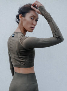 TRACK TOP - KHAKI TOPS from EXIE curated by pu·rist