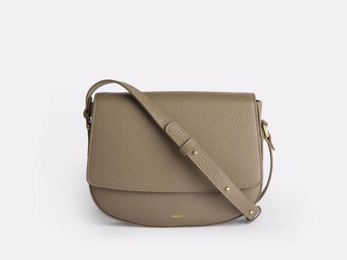 Ana Crossbody, Taupe Handbags from Verlein curated by pu·rist