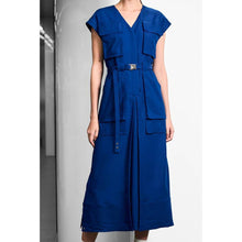 Load image into Gallery viewer, Utility Pant-like Dress-Dress-Charlotte Ng Studio-S-French Blue-pu·rist