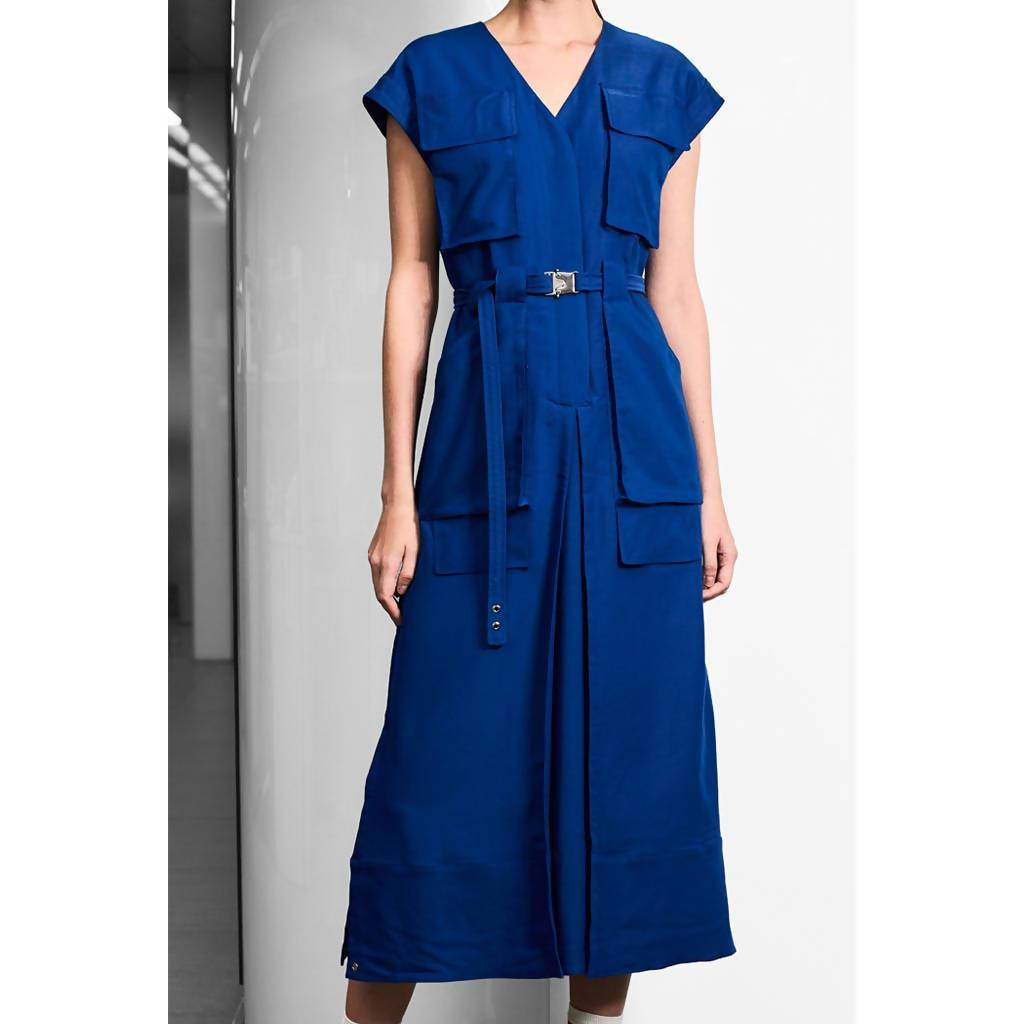 Utility Pant-like Dress-Dress-Charlotte Ng Studio-S-French Blue-pu·rist