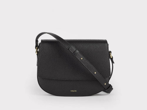 Ana Crossbody, Jet Black Handbags from Verlein curated by pu·rist