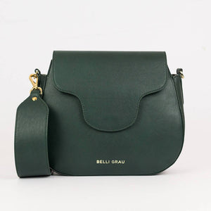 Elena Handmade Green-Leather Handbag-Belli Grau-pu·rist