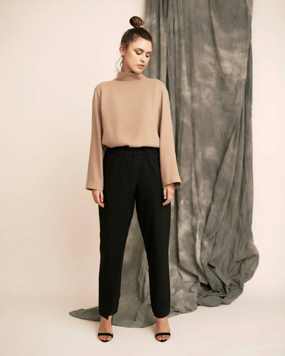 TROUSERS WITH 1 PANEL-PANTS-STASA-pu·rist