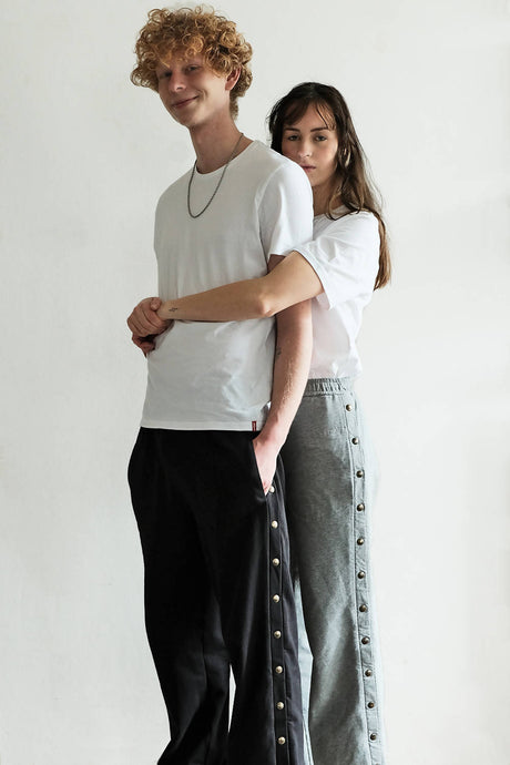 Unisex sweat pants 'Gummi' of Organic Cotton Black