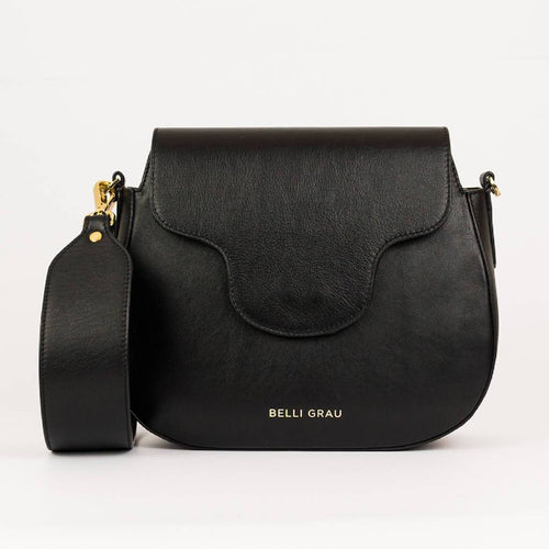 Elena Handmade Black-Leather Handbag-Belli Grau-pu·rist