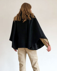 "Cape black wool ""Charlie"""