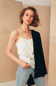 Silk Camisole Top | Ecru blouses from MIONÈ curated by pu·rist