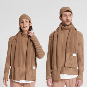 """SCARMORA"" Combi Knitted hat and scarf 