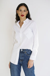 Crooked Boyfriend Shirt | White SHIRTS from JETTI curated by pu·rist