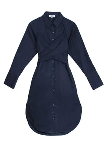 Criss Cross Dress | Navy Dresses from JETTI curated by pu·rist