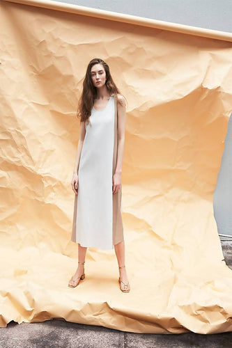 Tank dress with contrast colour side panels Dresses from akinn curated by pu·rist