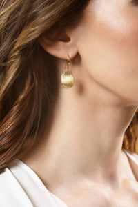 Yellow Poetry (Gold)-Earrings-Sia Shafer-pu·rist