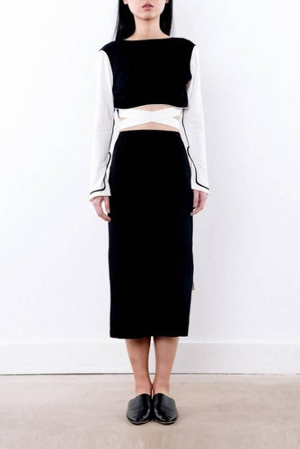 High Neck Crop Top-top-DONNA ZHONG-pu·rist