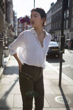 Load image into Gallery viewer, Brown vegan leather pants-Trousers-Blackburd-pu·rist