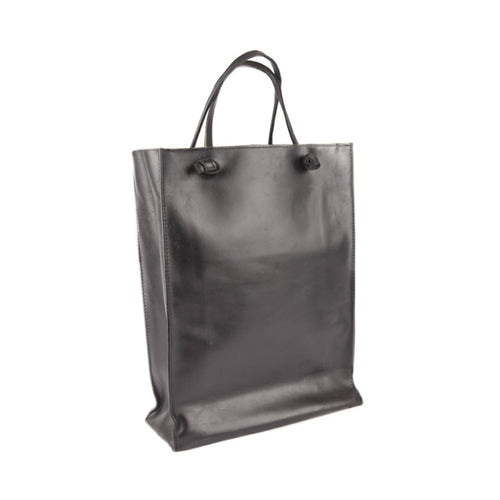 Leather tote bag Black Tote bag from EVA D. curated by pu·rist